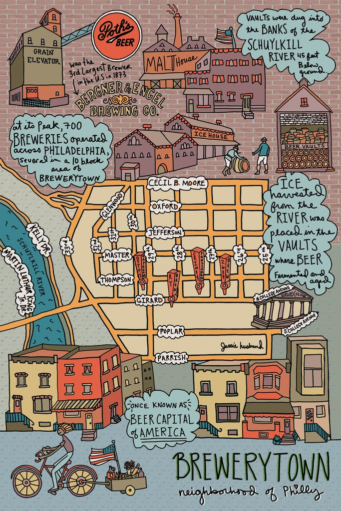 Brewerytown Neighborhood Map