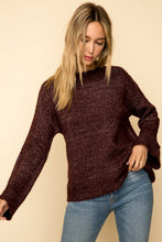 Load image into Gallery viewer, Burgundy Mock Neck Sweater
