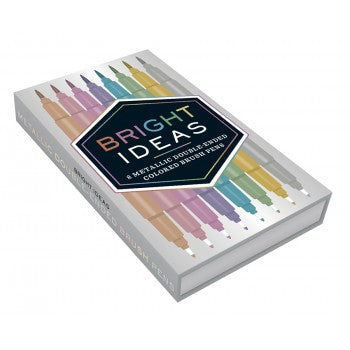 Bright Ideas Metallic Double Ended Brush Pens by Chronicle Books at local Fairmount shop Ali's Wagon in Philadelphia, Pennsylvania