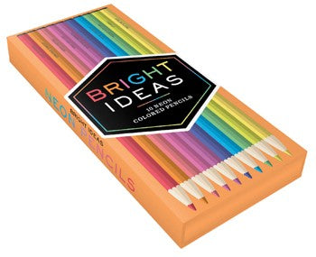 Bright Ideas Neon Colored Pencils by Chronicle Books at local Fairmount shop Ali's Wagon in Philadelphia, Pennsylvania