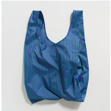 Load image into Gallery viewer, Cobalt Jade Stripe Baggu Reusable Bag