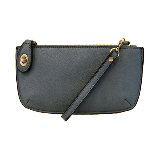 Dark Chambray Mini Crossbody & Wristlet