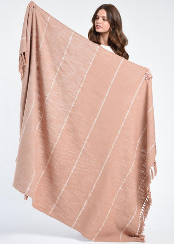 Blush Duka Throw Blanket
