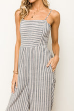 Load image into Gallery viewer, Dusty Lavender Stripe Jumpsuit