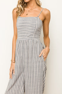 Dusty Lavender Stripe Jumpsuit