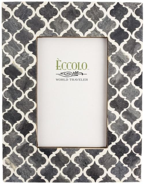 Naturals Frame, Moorish Tiles Gray by Eccolo Ltd at local housewares store Division IV in Philadelphia, Pennsylvania