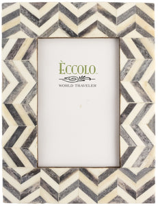 Naturals Frame, Chevron Gray by Eccolo Ltd at local housewares store Division IV in Philadelphia, Pennsylvania