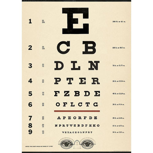 Eye Chart Decorative Paper