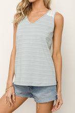 Load image into Gallery viewer, Eyelet V Neck Tank