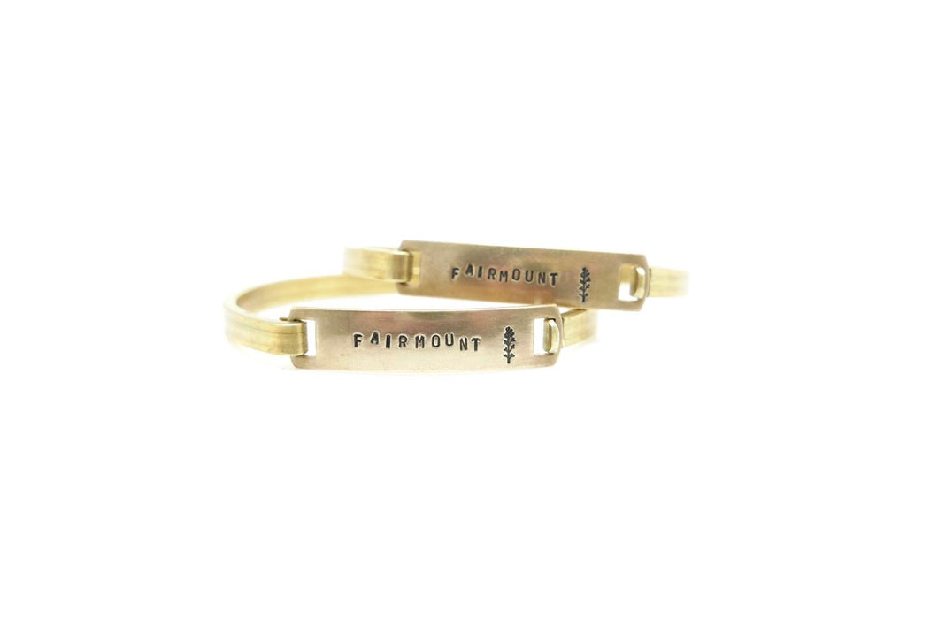 Fairmount Hand Stamped Cuff