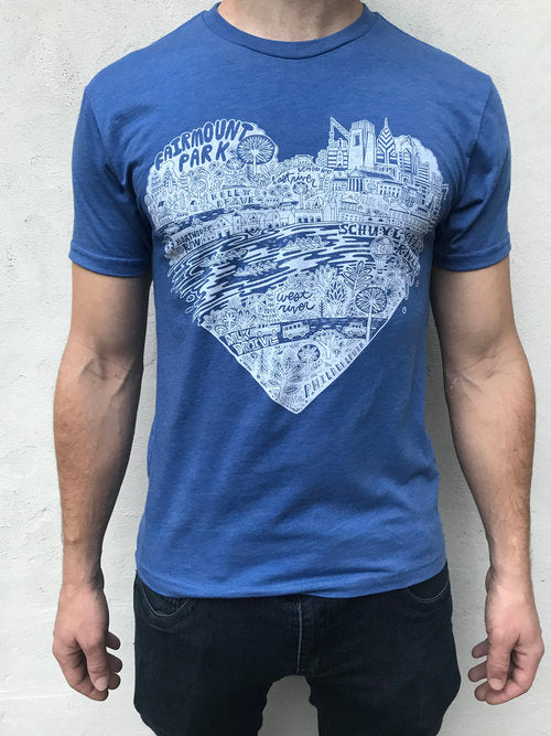 Blue Fairmount Park Tee