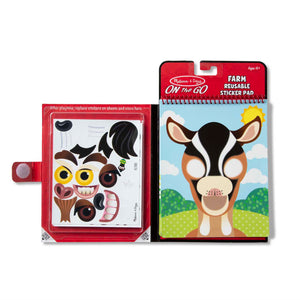 Farm Make a Face Reusable Sticker Set