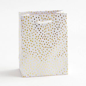 Gold Foil Flurry Small Gift Bag