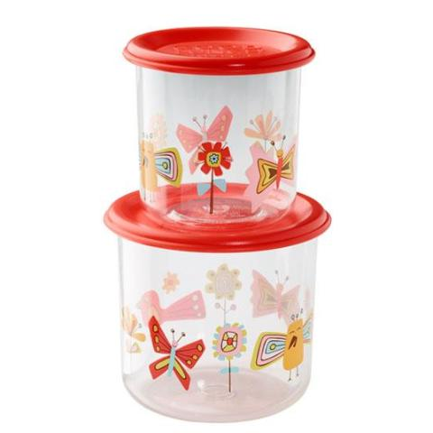 Birds & Butterflies Good Lunch Snack Containers