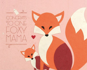 Congrats Foxy Mama Card by Good Paper at local Fairmount shop Ali's Wagon in Philadelphia, Pennsylvania