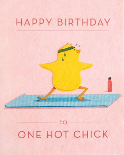 Happy Birthday Hot Chick Card by Good Paper at local Fairmount shop Ali's Wagon in Philadelphia, Pennsylvania