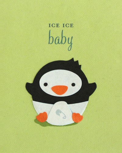 Ice Ice Baby Card by Good Paper at local Fairmount shop Ali's Wagon in Philadelphia, Pennsylvania