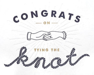 Congrats on Tying the Knot Card by Good Paper at local Fairmount shop Ali's Wagon in Philadelphia, Pennsylvania