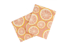 Load image into Gallery viewer, Grapefruit Organic Burp Cloths