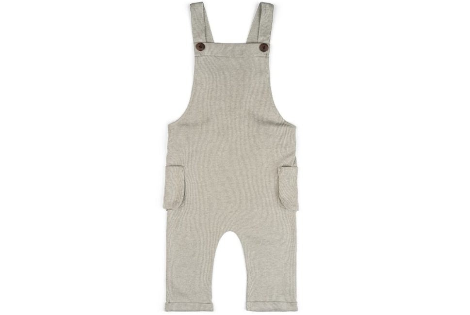 Grey Pinstripe Baby Overalls