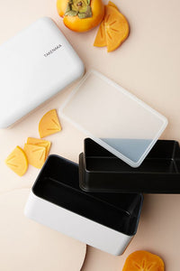 Grey Rectangular Bento Box