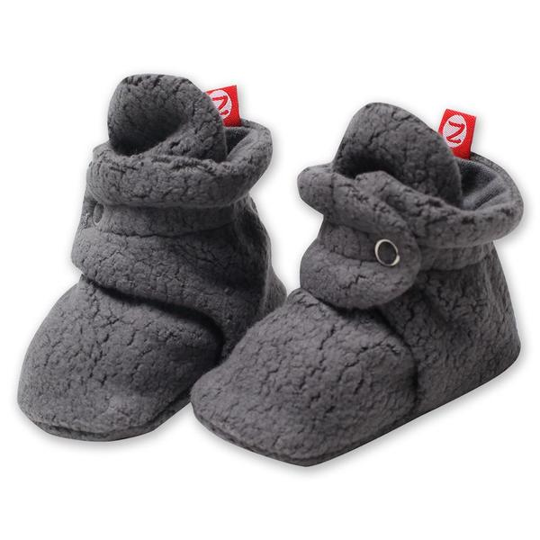 Grey Cozie Fleece Bootie