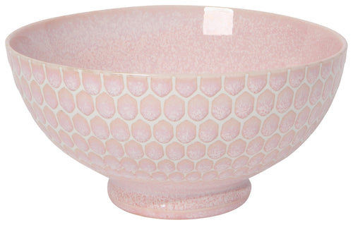 Pink Honeycomb Embossed Bowl