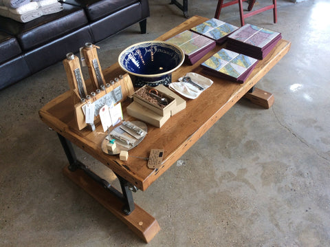 Coffee Table by Dusty Amodio at local housewares store Division IV in Philadelphia, Pennsylvania