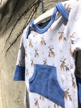Load image into Gallery viewer, Moose on White Kangaroo Romper