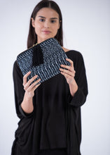 Load image into Gallery viewer, Navy Kavya Clutch