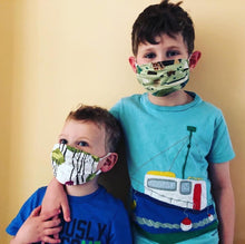 Load image into Gallery viewer, Blue Owl Kids Face Mask