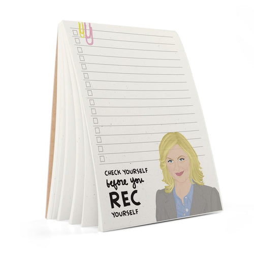 Check Yourself Before You Rec Yourself Notepad