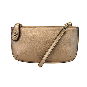Copper Metallic Mini Crossbody & Wristlet
