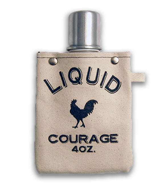 Liquid Courage Canvas Flask