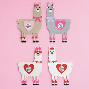 Llama Valentine's Day Card Kit