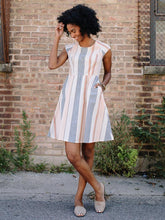 Load image into Gallery viewer, Pastel Lovely Lines Dress