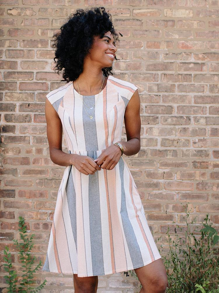 Pastel Lovely Lines Dress