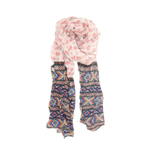 Load image into Gallery viewer, Pink Elephant Fancy Border Scarf