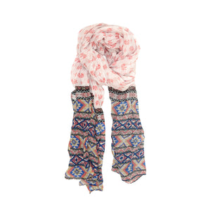 Pink Elephant Fancy Border Scarf