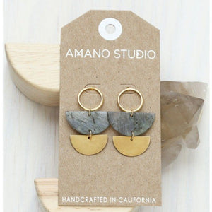 Lunar Labradorite Stud Earrings