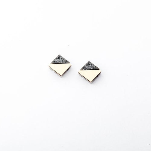 Corian Section Stud Earrings