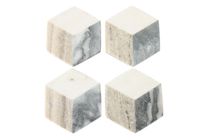 Geometric Hexagon Marble Coasters