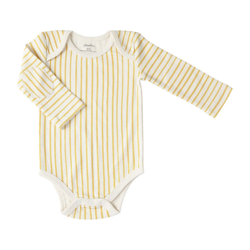 Marigold Stripes Long Sleeve Onesie
