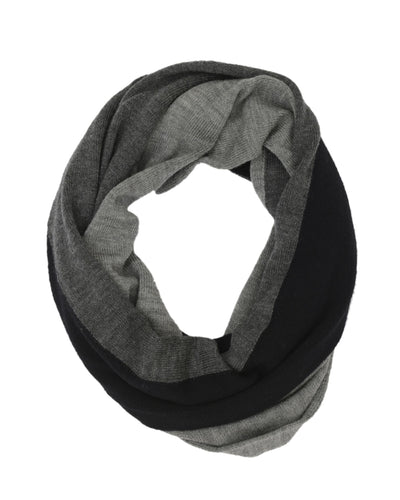 Charcoal Merino Wool Loop Scarf