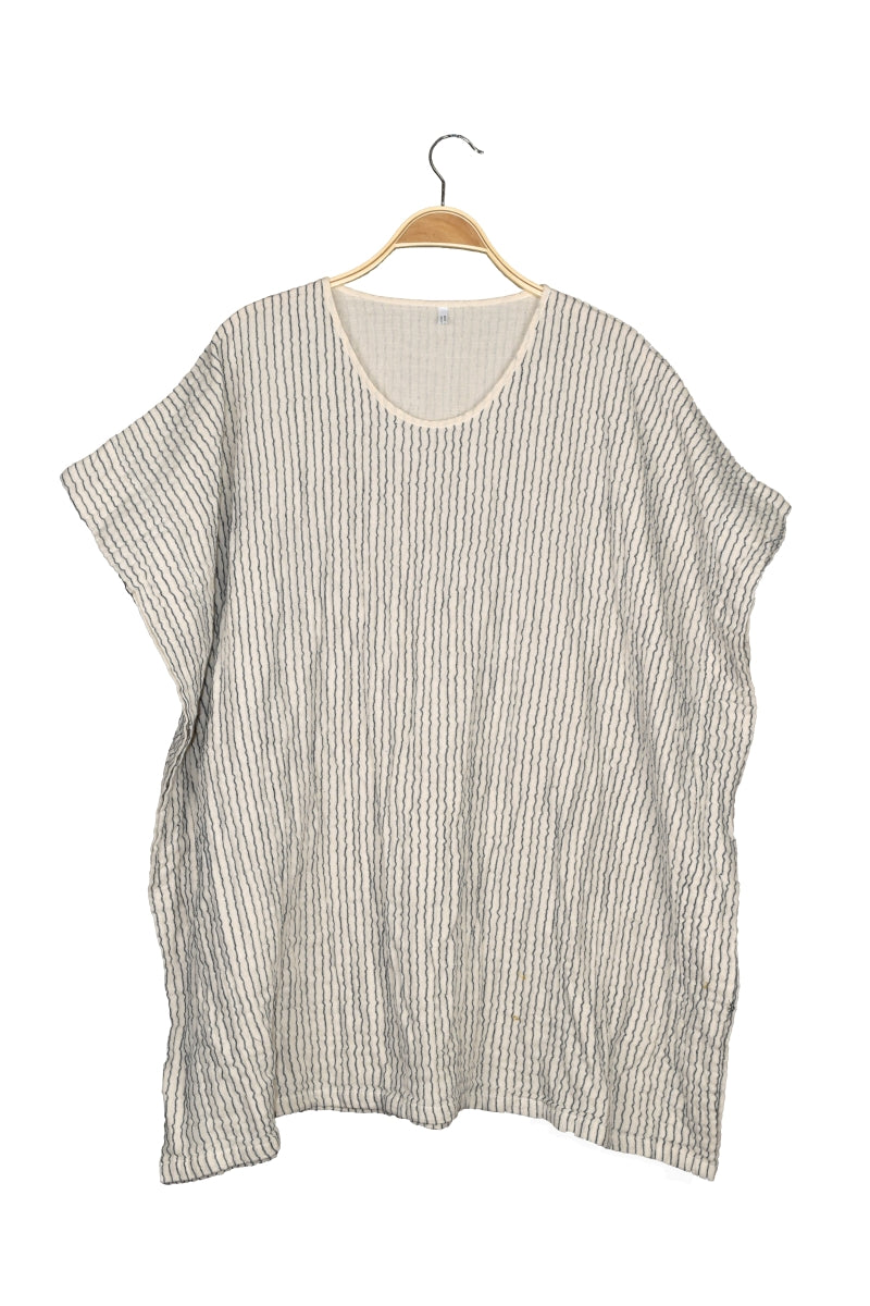 Natural Stripe Thai Cotton Cape