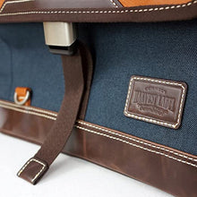 Load image into Gallery viewer, Navy Parkland Messenger Bag