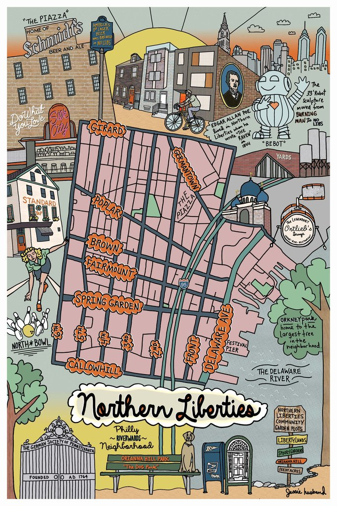 Northern Liberties Neighborhood Map