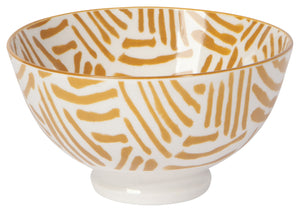 Ochre Lines Stamped Bowl