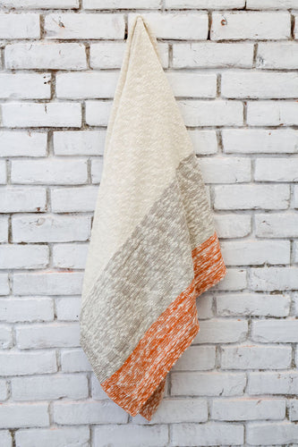 Burnt Orange Thick & Thin Stripe Throw Blanket