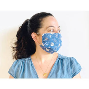 Blue Philadelphia Adult Face Mask